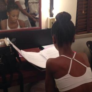 Yeah, I'm a nerd. Doing homework backstage at the Fox Theatre before we perform with K Michelle