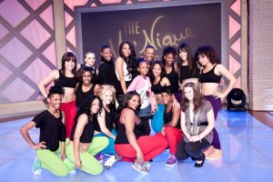 Throw back to when my Mom worked on The MoNique Show. I think I was like 9 or 10! #Boomkat and her dance contestants!