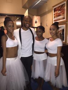 With choreographer Mitchell Kelly, performing with K Michelle!