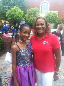 Early morning performing with DAW on the Morning Show! Anchor Karen Grier