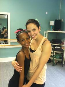 Actress and ballerina Jaclyn Betham after an amazing master class!