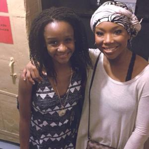 Backstage at Chicago. Isn't Brandy beautiful??!! Great show too. One day...